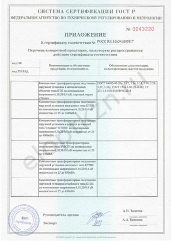 Сертификат соответствия КТП-6,10,20 (страница 2)